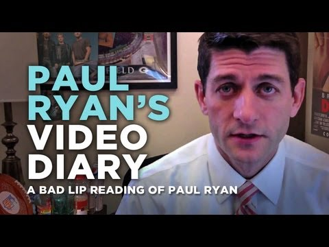 A.Paul - Excerpts from vice presidential nominee Paul Ryan's personal video diary. Like on Facebook! http://www.facebook.com/badlipreading Follow on Twitter! http://...