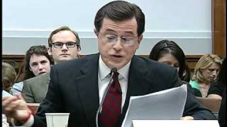 Video Colbert stays in character at congressional hearing MP3, 3GP, MP4, WEBM, AVI, FLV Mei 2018