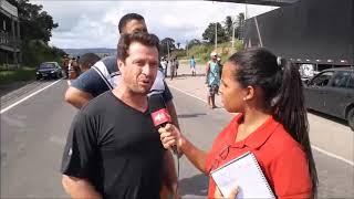 Contra aumento no valor do diesel caminhoneiros aderem a manifestação no trecho de Santo Estêvão