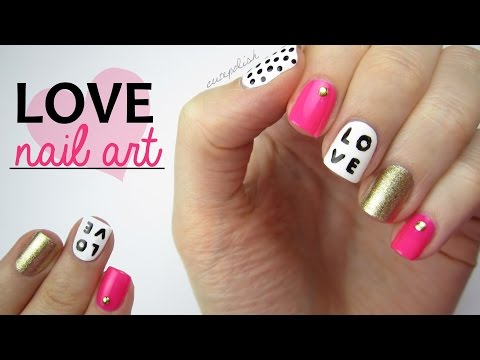 Nail - Nail Art for Valentine's Day! In today's nail tutorial, I'm going to be showing you how to create this ultra cute and easy mix and match nail art design for Valentine's Day! Spread a little...