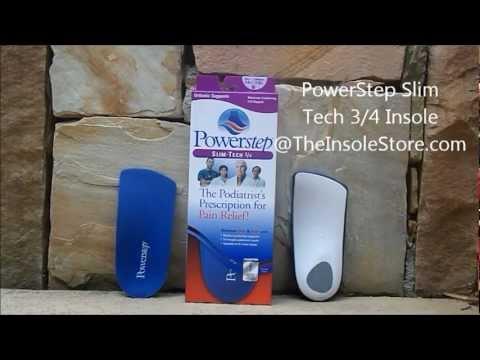 Powerstep Slim Tech 3/4 Orthotic Insoles Reveiw @TheInsoleStore.com