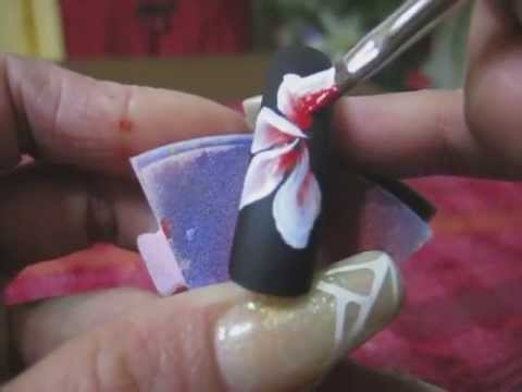 Nail Art One stroke  by Richelle Nakamura