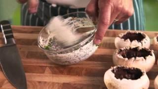 De délicieux champignons farcis