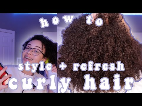 how i STYLE and REFRESH my CURLY hair! | aliyah simone