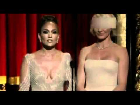 [Original] Jennifer Lopez Wardrobe Malfunction at Oscars 2012 - HD
