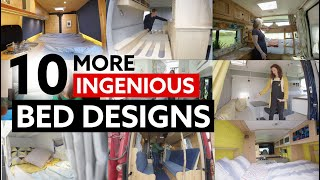 10 (MORE) INGENIOUS BED DESIGNS For Your Van Conversion by Nate Murphy