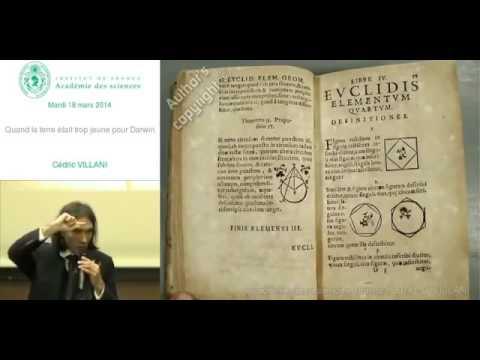 Cedric Villani Histoire des mathematiques dans l humanite conference