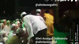 Alwi Assegaf Ketika baru tiba di Monas dalam acara Milad Majlis Nurul Musthofa
