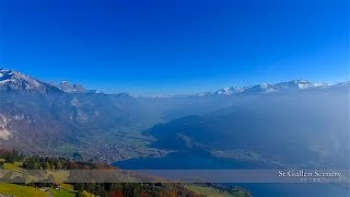 Saint Gallen Switzerland  city photo : 4K Paxmal Lake Walensee St.Gallen SWITZERLAND アルプス山脈 dji