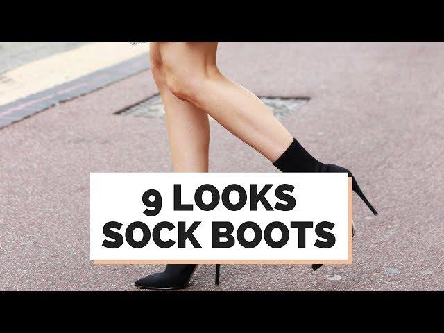 9 LOOKS : SOCK BOOTS , A BOTA MEIÃO DO INVERNO 2018 - Closet da Mari
