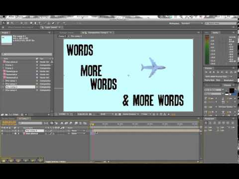 simple text animation in after effects
