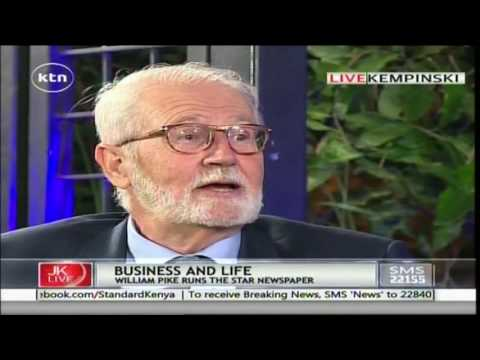 Jeff Koinange Live: William Pike - MD, The Star Newspaper 26th May 2016 Part 1