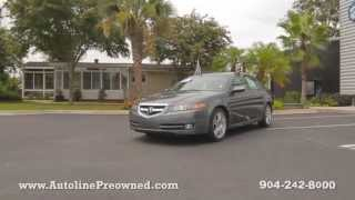 Autoline Preowned 2008 Acura TL 3.2 For Sale Used Walk Around Review Test Drive Jacksonville