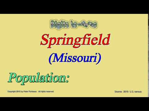 Springfield Missouri Population in 2010 - Digits in Three