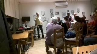 David Mills performing at the Kitchen Croxley Dial-up night