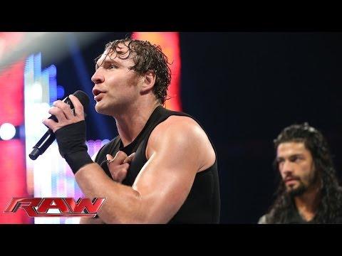 Dean Ambrose & Roman Reigns address Seth Rollins' betrayal: Raw, June 9, 2014