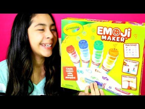DIY CRAYOLA EMOJI MAKER  B2cutecupcakes (видео)