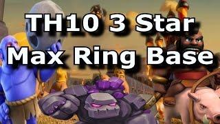 Video TH10 3 Star Ring Base (Max Base) | Clash of Clans | TH10 War Attack MP3, 3GP, MP4, WEBM, AVI, FLV November 2017