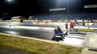 8. Stock sv650s 2007 vs stock gsxr600 1/4 drag track