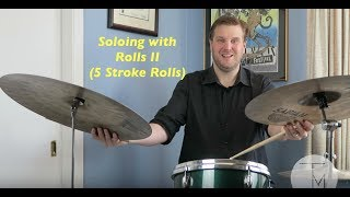 Download Lagu Jazz Drum Lesson: Soloing with Rolls II (5 Stroke Rolls) Mp3