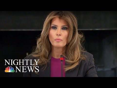 Melania Trump Addresses Critics At Cyberbullying Summit | NBC Nightly News