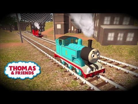 Tomas el tren en español. Thomas y Percy en carrera!! Chu Chu. Completo. видео