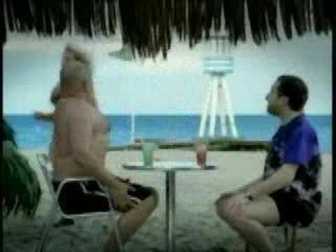 Funny: Bierbauch / beer belly at the beach