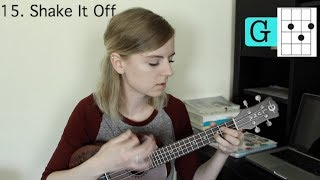 4 basic chords, 24 Taylor Swift songs on ukulele
