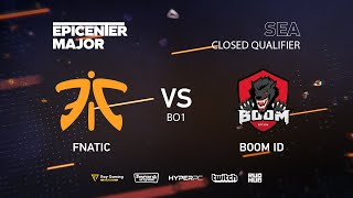 Fnatic vs BOOM ID, EPICENTER Major 2019 SA Closed Quals , bo1 [Mortalles]