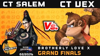 BLX | CT Salem (Bayonetta) vs CT Vex Kasrani (DK) – Grand Finals – Sm4sh Singles