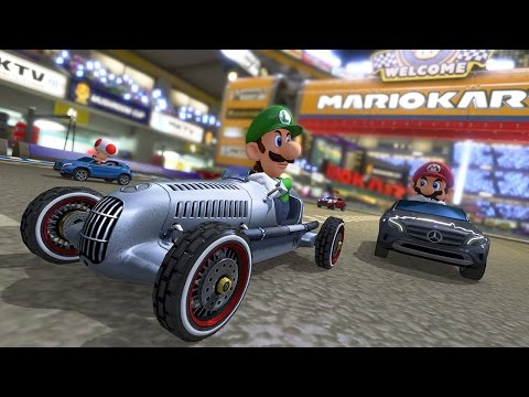 we - IGN's Jose Otero and Greg Miller take MK8's new Mercedes DLC for a spin.