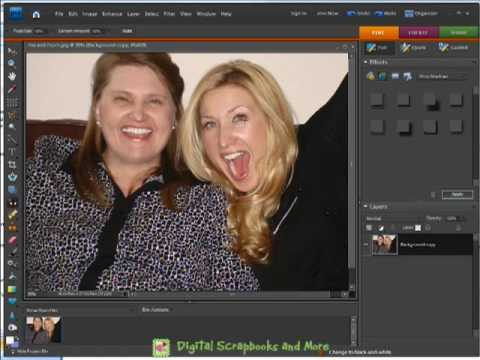 Removing Red Eye From Digital Photos within Photoshop Elements 7