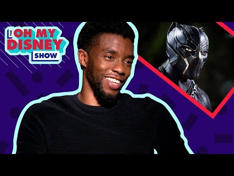 Chadwick Boseman on What it Was Like Filming Marvel Studios' Black Panther   Oh My Disney Show