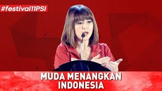 Video MUDA MENANGKAN INDONESIA (PIDATO LENGKAP KETUA UMUM PSI GRACE NATALIE DI FESTIVAL 11) MP3, 3GP, MP4, WEBM, AVI, FLV November 2018