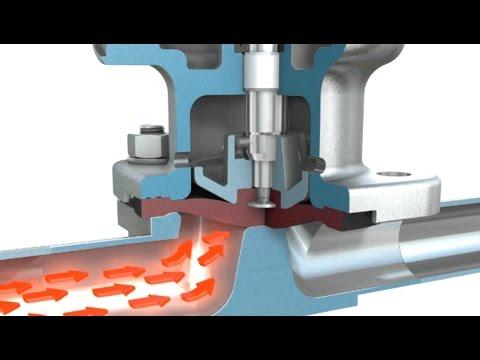 Valve principle diaphragm valve with metal body