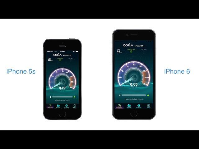 Porovnání rychlosti LTE u iPhonu 5S a 6 (Video)