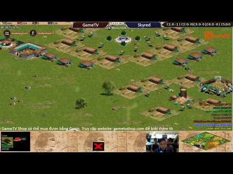 AOE | 4vs4 Random GameTV vs Skyred ngày 22 8 2017 .BLV:G_man