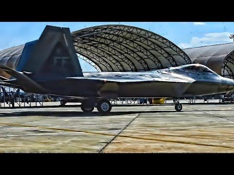 U.S. Air Force F-22 Raptors conduct...