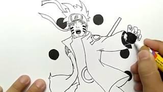 cara menggambar naruto kyubi bijuu mode dengan mudah