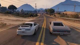 Nonton GTA V PC fast and furious 7 Ending scene Film Subtitle Indonesia Streaming Movie Download