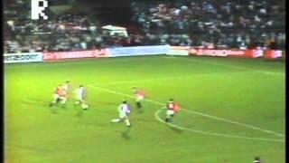 16. oktober 1985 Ullevaal, Oslo, Norge Tilskuere: 20.000 44' 1 - 0 Tom Sundby 56' 1 - 1 Michael Laudrup 63' 1 - 2 Søren Lerby...