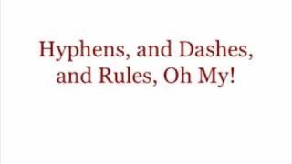 Hyphens & Dashes