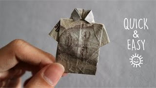 Download Video MENYULAP UANG MENJADI BAJU ORIGAMI | HOW TO MAKE T-SHIRT ORIGAMI FROM MONEY MP3 3GP MP4