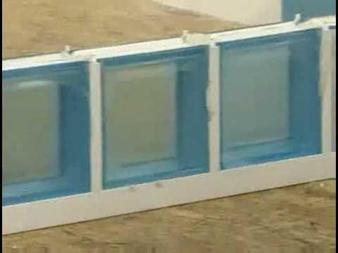 Montage briques de verre en système LUX-PROF