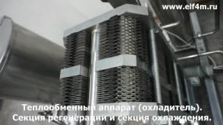 Видео: Комплект оборудования для пастеризации (пастеризатор-охладитель молока) ИПКС-013-2000. Общий вид.
