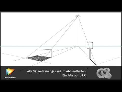 Zeichnen lernen: Perspektive Tutorial: Schatten konstruieren |video2brain.com