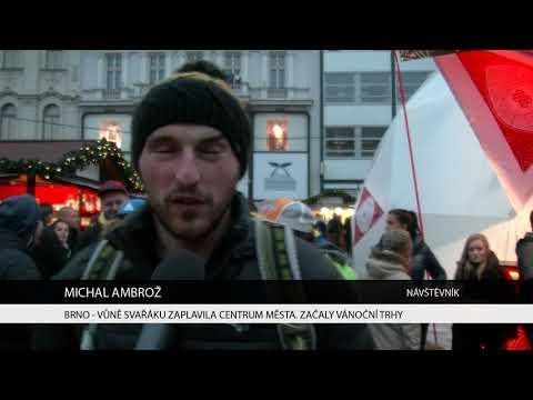 TV Brno 1: 27.11.2017 Vůně svařáku zaplavila centrum města Začaly vánoční trhy