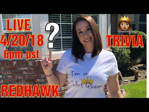 🔴 Live Stream RedHawk Casino * Slot Queen Trivia Time !