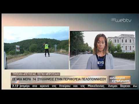 74 συλλήψεις σε μια ημέρα στην Πελοπόννησο! | 26/08/2019 | ΕΡΤ