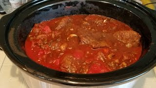 http://www.SmokingPit.com - Viewers asked if my Dutch Oven Swiss Steak recipe would work in a crockpot. Slow cooked 7 hours ...
